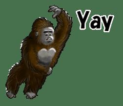 cool gorilla sticker #8472974