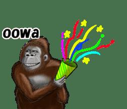 cool gorilla sticker #8472976
