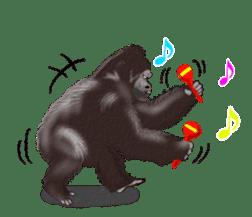 cool gorilla sticker #8472977