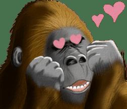 cool gorilla sticker #8472978