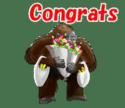 cool gorilla sticker #8472980