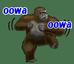 cool gorilla sticker #8472981