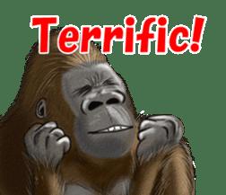 cool gorilla sticker #8472986