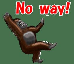 cool gorilla sticker #8472989