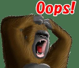 cool gorilla sticker #8472996