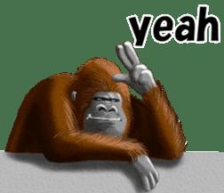cool gorilla sticker #8472998