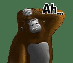 cool gorilla sticker #8472999