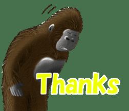 cool gorilla sticker #8473002