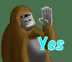 cool gorilla sticker #8473003