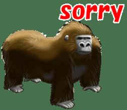 cool gorilla sticker #8473006