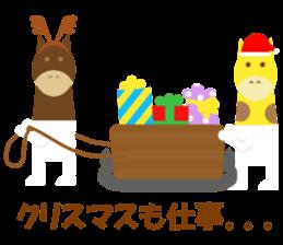 Horse and giraffe - Fall New Year ~ sticker #8473403