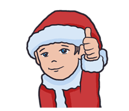 little santa clauses sticker #8476360