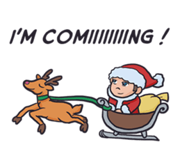 little santa clauses sticker #8476367