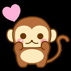 Emotions of Cute Monkey