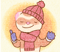 WinterFerret sticker #8493228