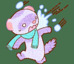 WinterFerret sticker #8493252