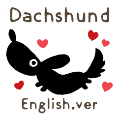 DACHSHUND monochrome Sticker2