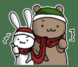 Long-distance couples part3-winter love sticker #8506653
