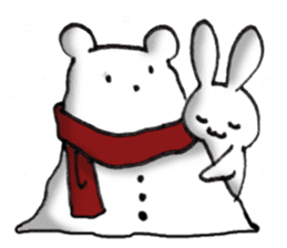 Long-distance couples part3-winter love sticker #8506660