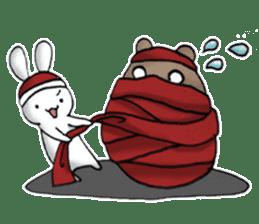 Long-distance couples part3-winter love sticker #8506668