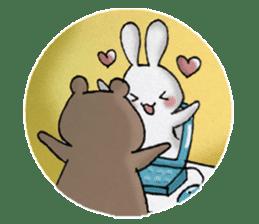 Long-distance couples part3-winter love sticker #8506677