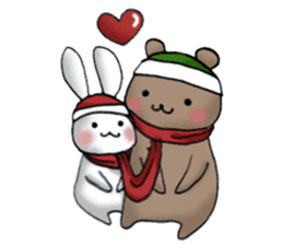 Long-distance couples part3-winter love sticker #8506681