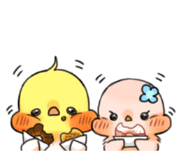 Okame-kun & pink-chan Vol.4 sticker #8517268