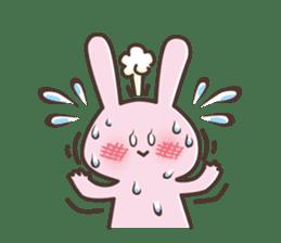 The rabbit which sweat sticker #8519006