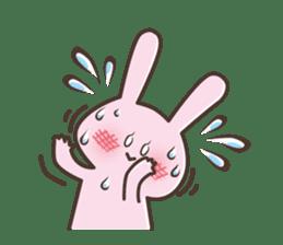 The rabbit which sweat sticker #8519007