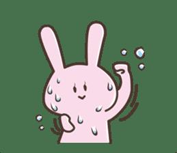 The rabbit which sweat sticker #8519010