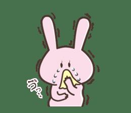 The rabbit which sweat sticker #8519014