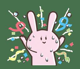 The rabbit which sweat sticker #8519018