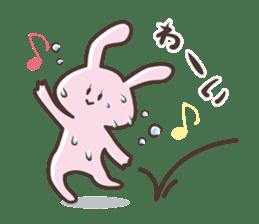 The rabbit which sweat sticker #8519019