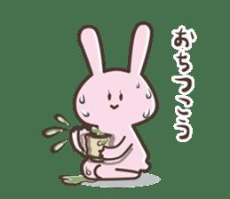 The rabbit which sweat sticker #8519029