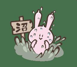 The rabbit which sweat sticker #8519032