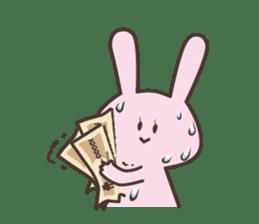 The rabbit which sweat sticker #8519033