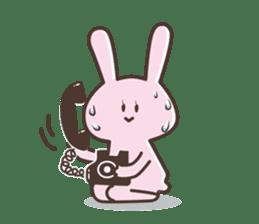 The rabbit which sweat sticker #8519034