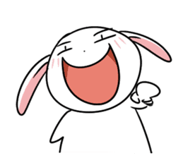Usagi Rabbit - Just Laughing sticker #8521670