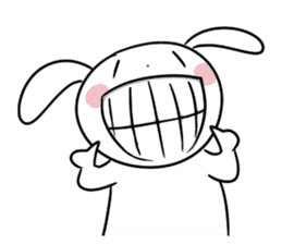 Usagi Rabbit - Just Laughing sticker #8521678