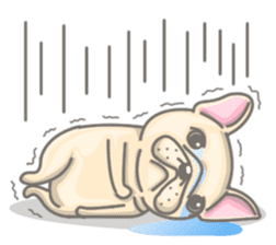 Frenchy the French Bulldog sticker #8533713