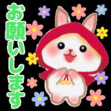 Little Red Riding Hood Rabbit sticker #8536675