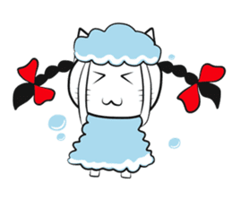 pigtails cat girl sticker #8546557