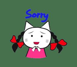 pigtails cat girl sticker #8546574