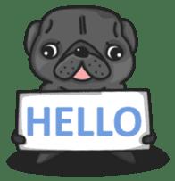 Kuro Pug sticker #8549890
