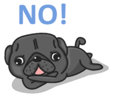 Kuro Pug sticker #8549892