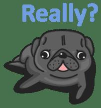 Kuro Pug sticker #8549893
