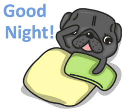 Kuro Pug sticker #8549896