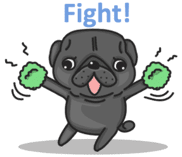 Kuro Pug sticker #8549900