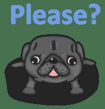 Kuro Pug sticker #8549902