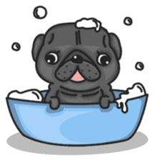 Kuro Pug sticker #8549905